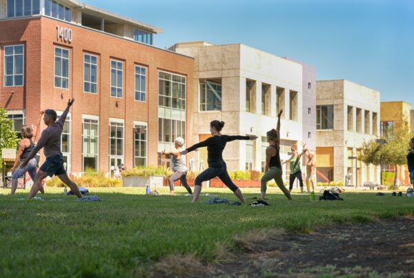 Outdoor Yoga @ SOMO Village by Energize Hot Yoga